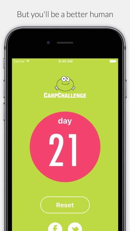 Carp - 21 Day No Complaint Challenge screenshot-3