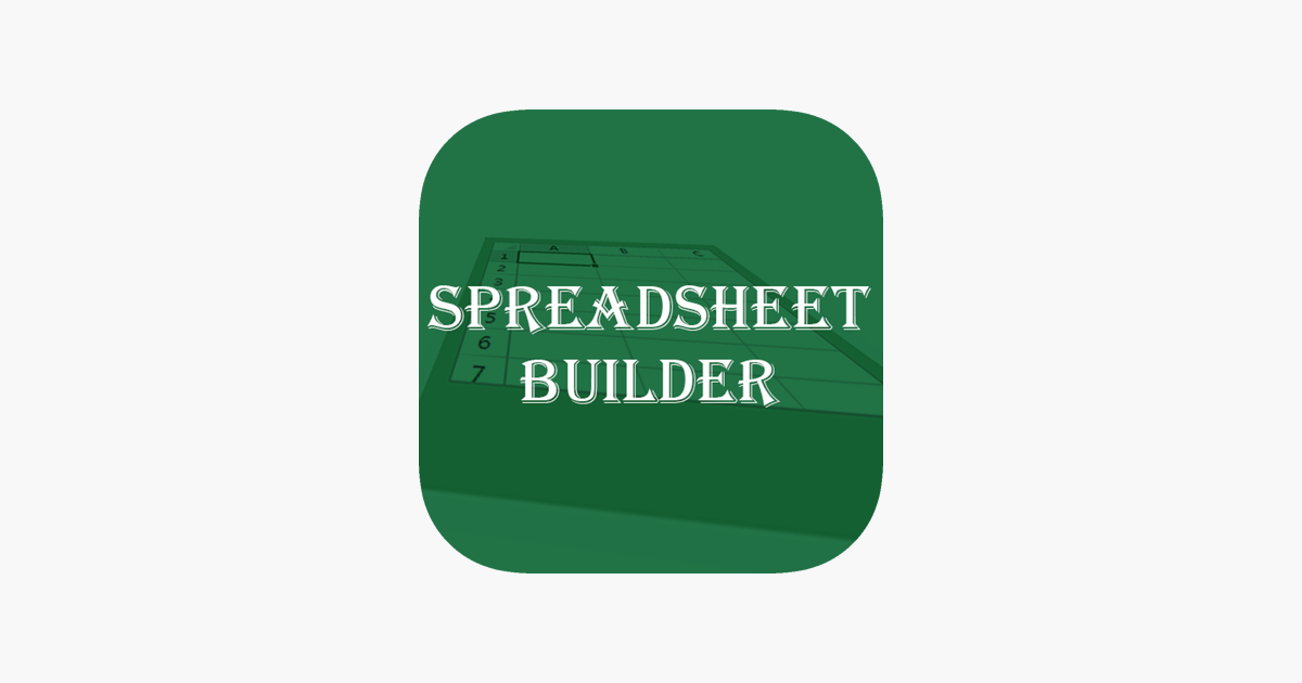 spreadsheet builder excel version on the app store