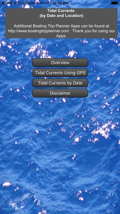 East Coast Tidal Currents by Date and Location screenshot-0