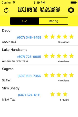 Bing Cabs screenshot 1