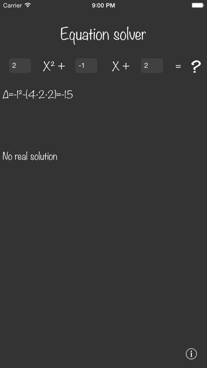 Equation solver +