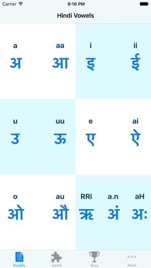 Hindi Vowels Script And Pronunciation On The App Store