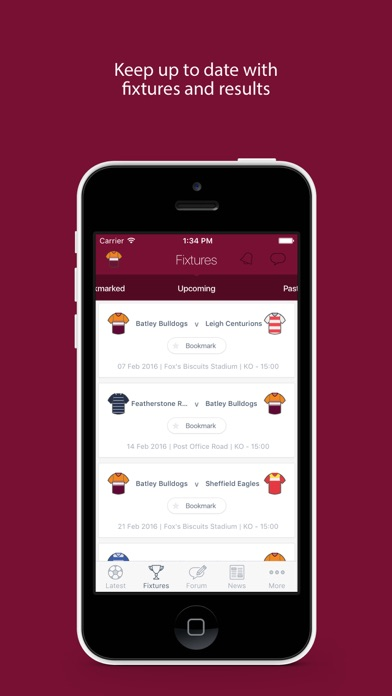 Fan App for Batley Bulldogs screenshot two