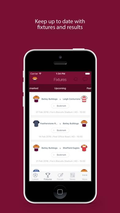Fan App for Batley Bulldogs screenshot two
