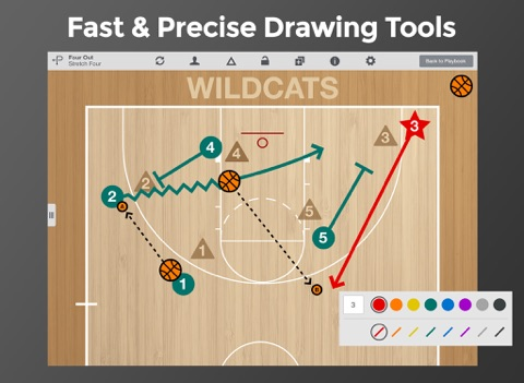 Screenshot #4 pour Basketball Playmaker Playbook