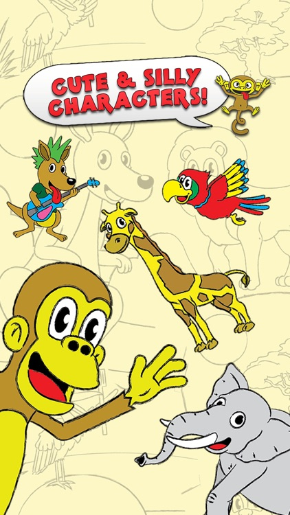 Coloring Animal Zoo Touch To Color Activity Coloring Book For Kids and Family Preschool Ultimate Edition screenshot-1