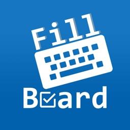 FillBoard: Custom keyboard