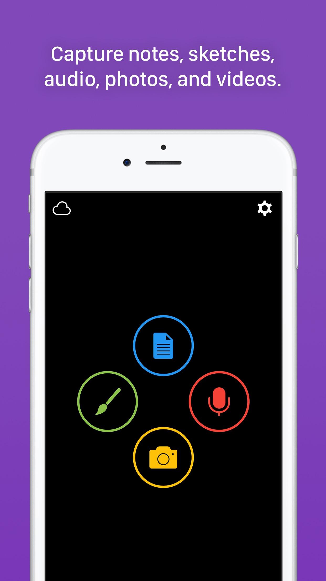 Screenshot do app Yeti – Capture Everything