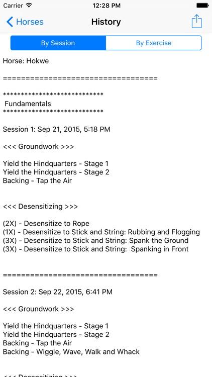 Nickers Horse Training Logbook screenshot-4