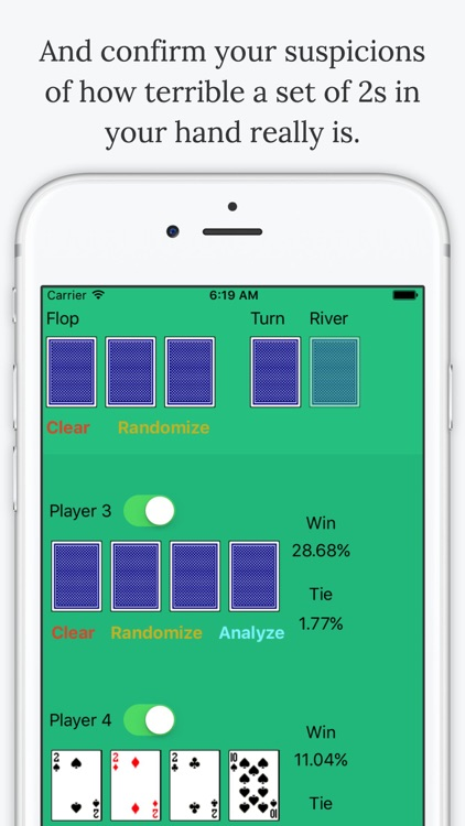 Omaha Poker Calculator - Calculate Odds and Chances % to Win screenshot-4