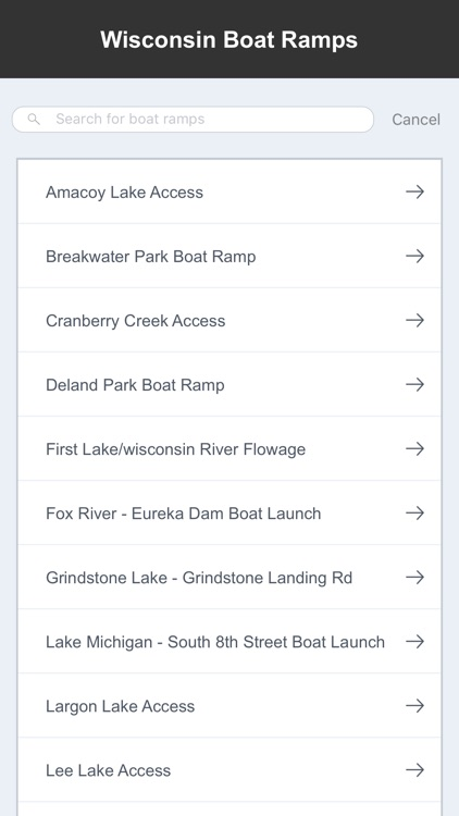 Wisconsin Boat Ramps & Fishing Ramps