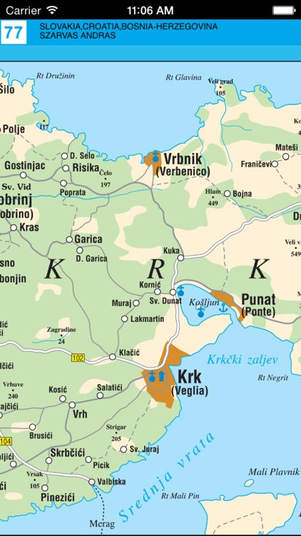 Slovenia, Croatia. Road map. screenshot-3