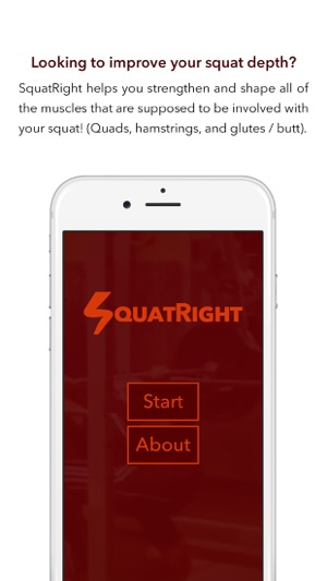 SquatRight - Better Squat Depth, Better Fitness Screenshot