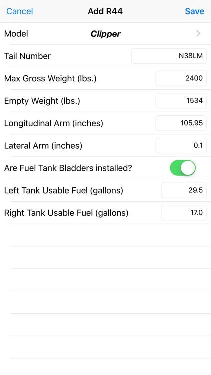 R44 Weight & Balance screenshot-4