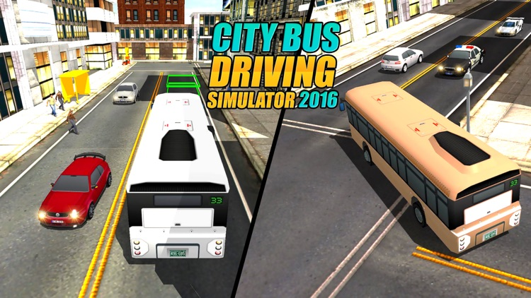 Real Modern city Bus driving simulator 3d 2016 - transport passengers through real city traffic screenshot-3