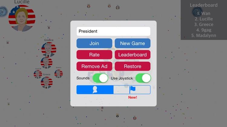 Presidents War: Eat Dot Game - multiplayer cell eater in paradise hocus