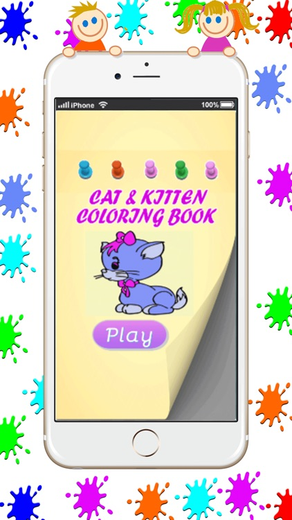 Kitty and Cat Coloring Book Game : Basic Start screenshot-0
