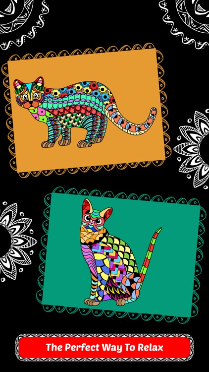 Creative Cats Art Class-Stress Relieving Coloring Books for Adults FREE screenshot-4