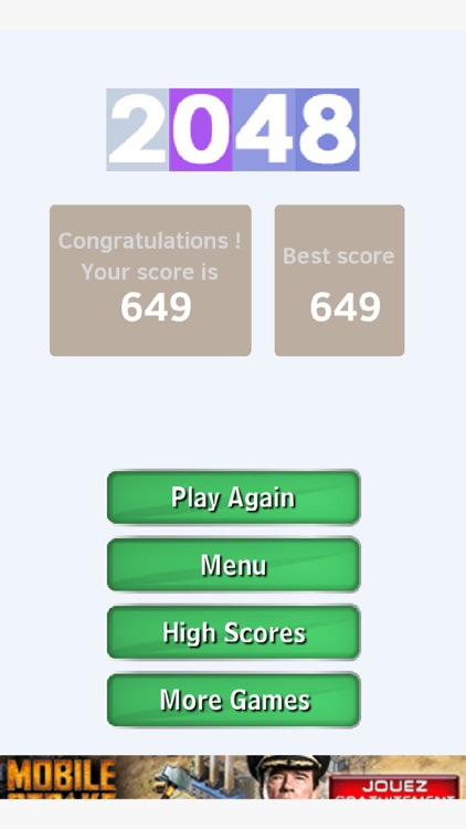 2048 Game of puzzle and math screenshot-4