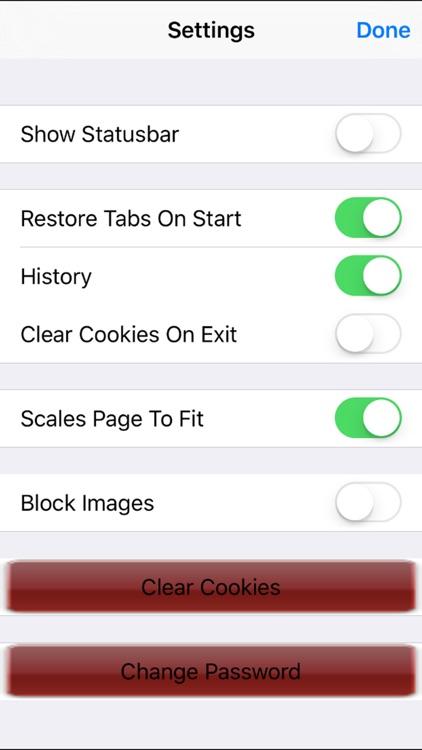 Private web browser Free - passcode & multi tabs & full screen screenshot-4