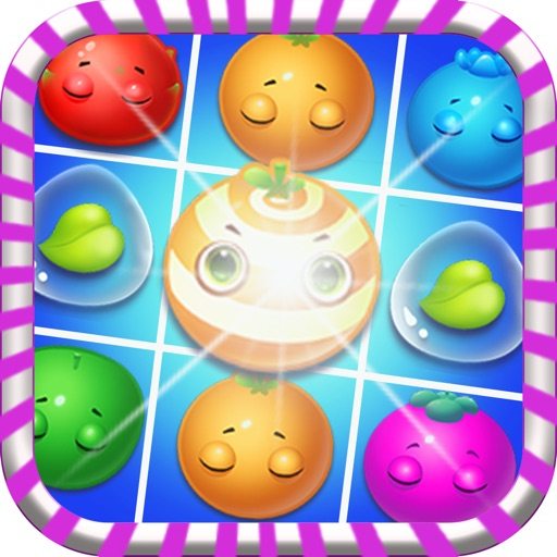 Candy Fruit Mania - Top Free Matching 3 Farm Jelly for Kids and Fiends! iOS App