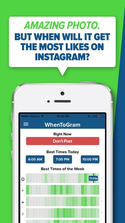 WhenToPost: Best Time to Post Photos for Instagram