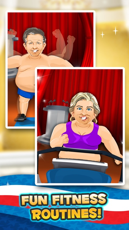 Election Fat to Fit Gym - fun run jump-ing on 2016 games with Bernie, the Donald Trump & Clinton!
