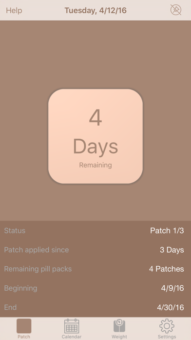 MyPatch - Birth control patch screenshot one