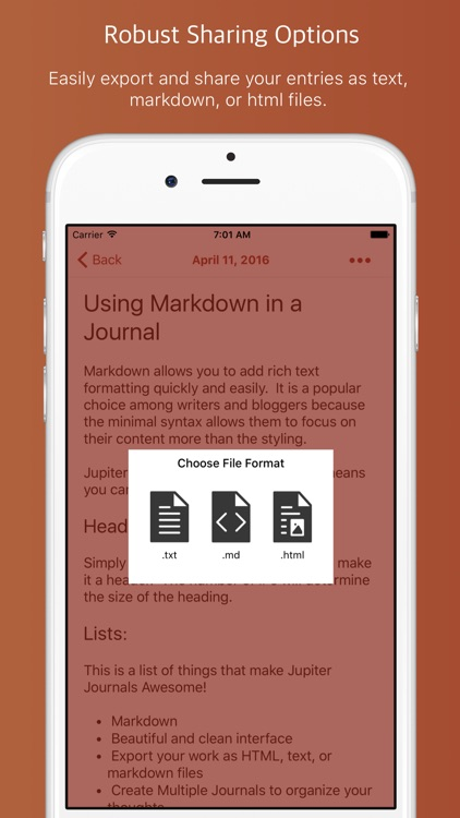 Jupiter Journals - Keep a Personal Journal screenshot-3