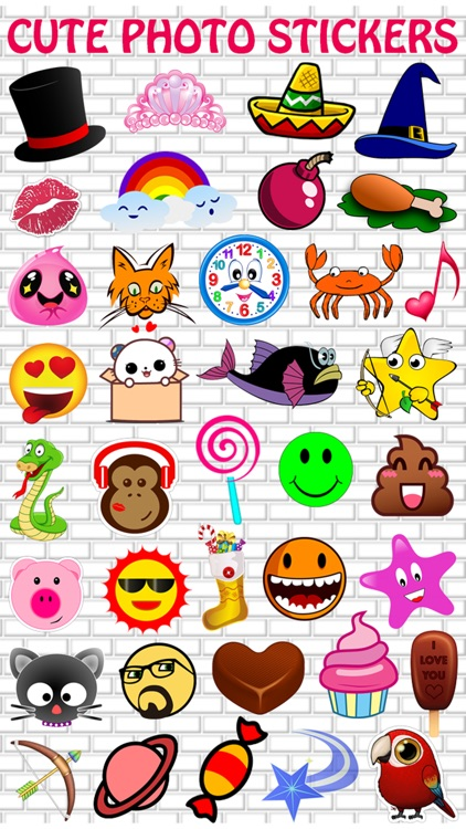 Cute Photo Sticker Creator - Selfie Picture Booth with Cool Stickers & Collage Frames Editor