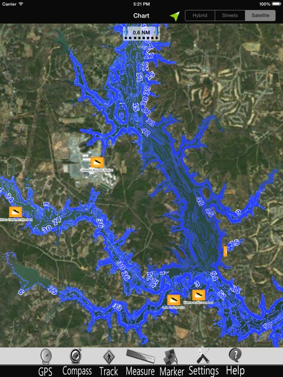 Lake Wylie Nautical charts HD
