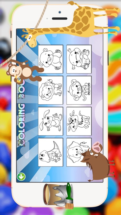 Baby Animals Coloring Book -  All In 1 Cute Animal Draw, Paint And Color Pages Games For Kids