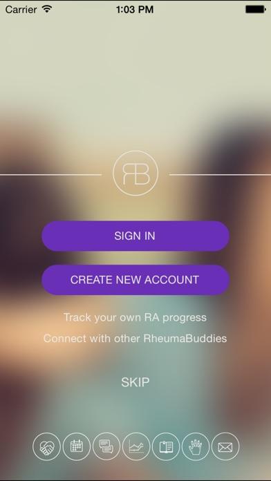 Screenshot for RheumaBuddy in Denmark App Store
