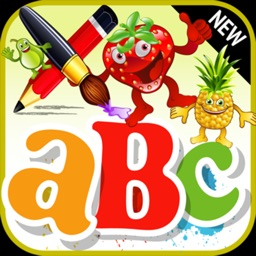 A coloring app of the Fruitce for children: Learn to draw and paint
