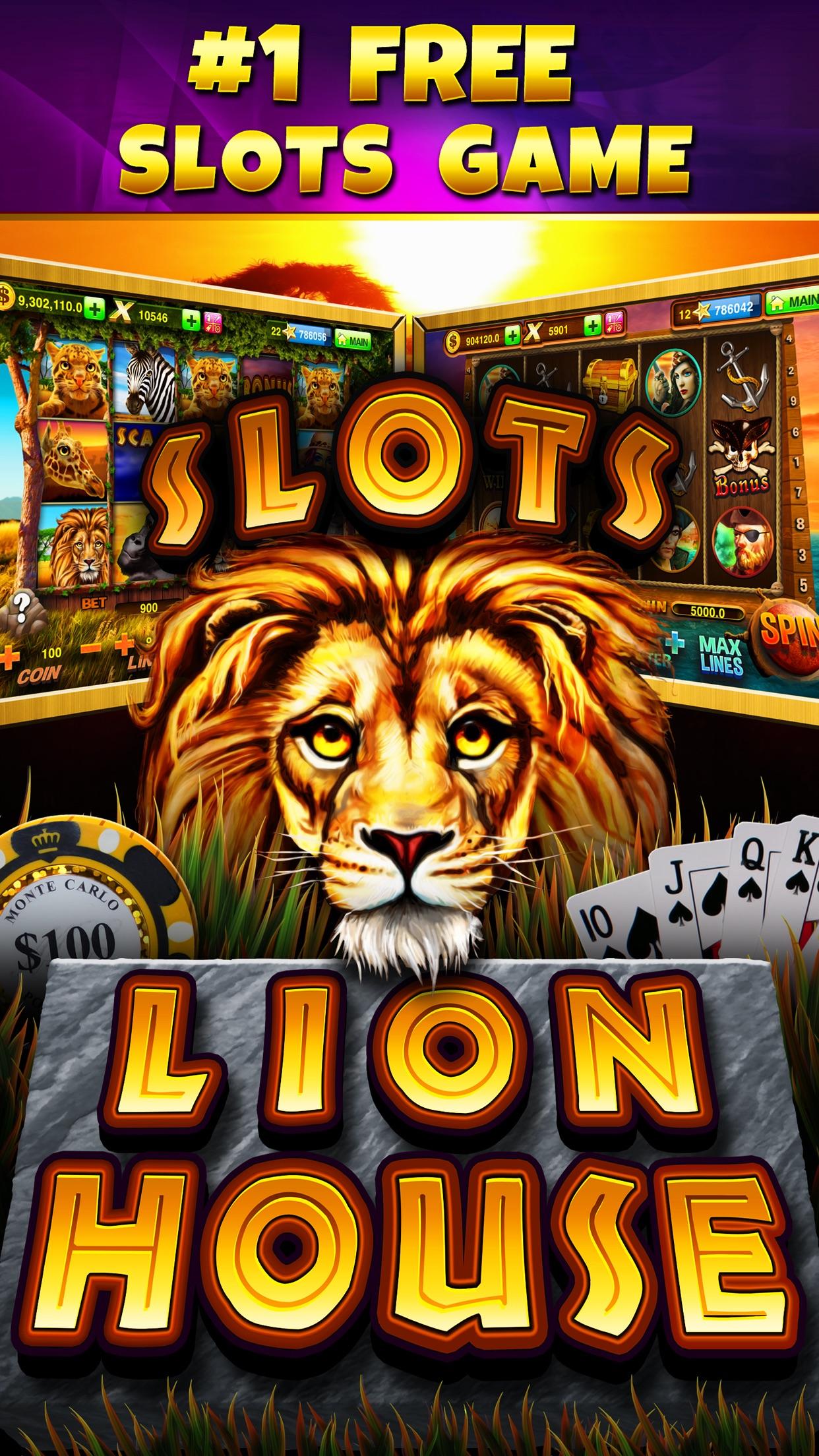 Lion House Casino Slots - All New, Grand Las Vegas Slot Machine Games in the Mega Millions Palace! Screenshot