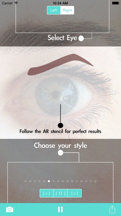 Eyebrow Shape Studio AR Mirror