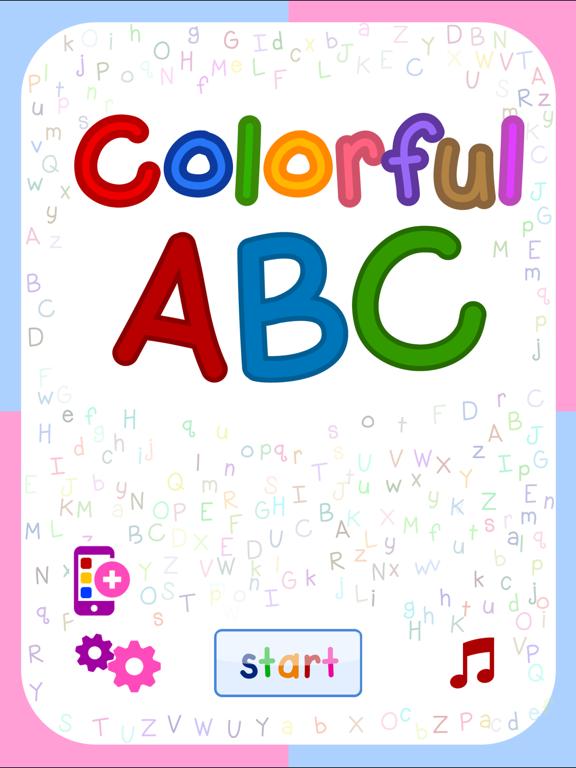 Colorful ABC (Nursery English Alphabets Flashcards for Kids   Montessori Education)-ipad-0