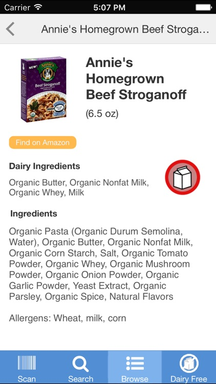 Dairy Free Food screenshot-1