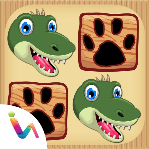 Dinosaurs Matching Pair Games iOS App