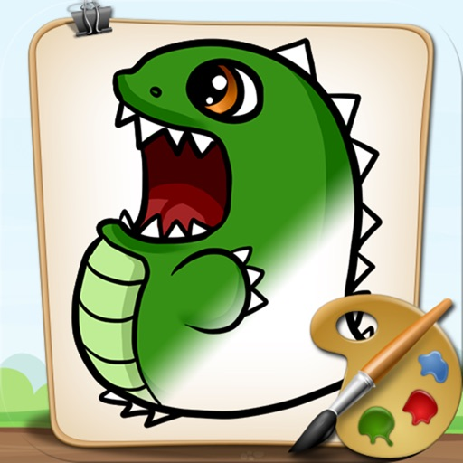 Coloring Book Dinosaurs Full