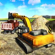 沙挖掘机卡车模拟3D - 重型建筑挖土机模拟器游戏