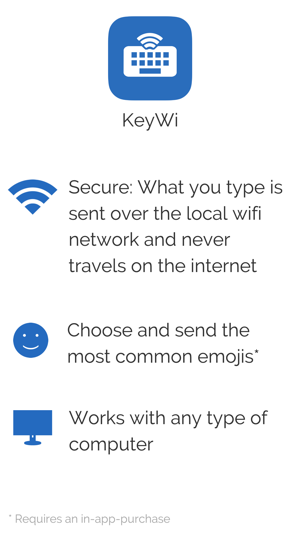 KeyWi Keyboard - Type faster on your device using your computer's keyboard Screenshot