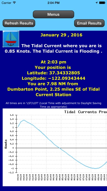 Alaska Coast Tidal Currents by Date and Location screenshot-2