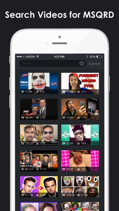 Video Selfies for MSQRD.me - Watch Animated Masks & Face Swap Videos screenshot three