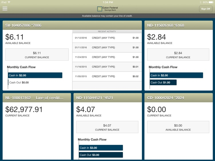 Eaton Federal Savings for iPad