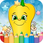 Vegetable Drawing Coloring Book - Cute Caricature Art Ideas pages for kids icon