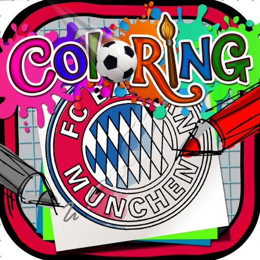 Coloring Book : Painting Pictures on Football Team Logos Cartoon for Pro