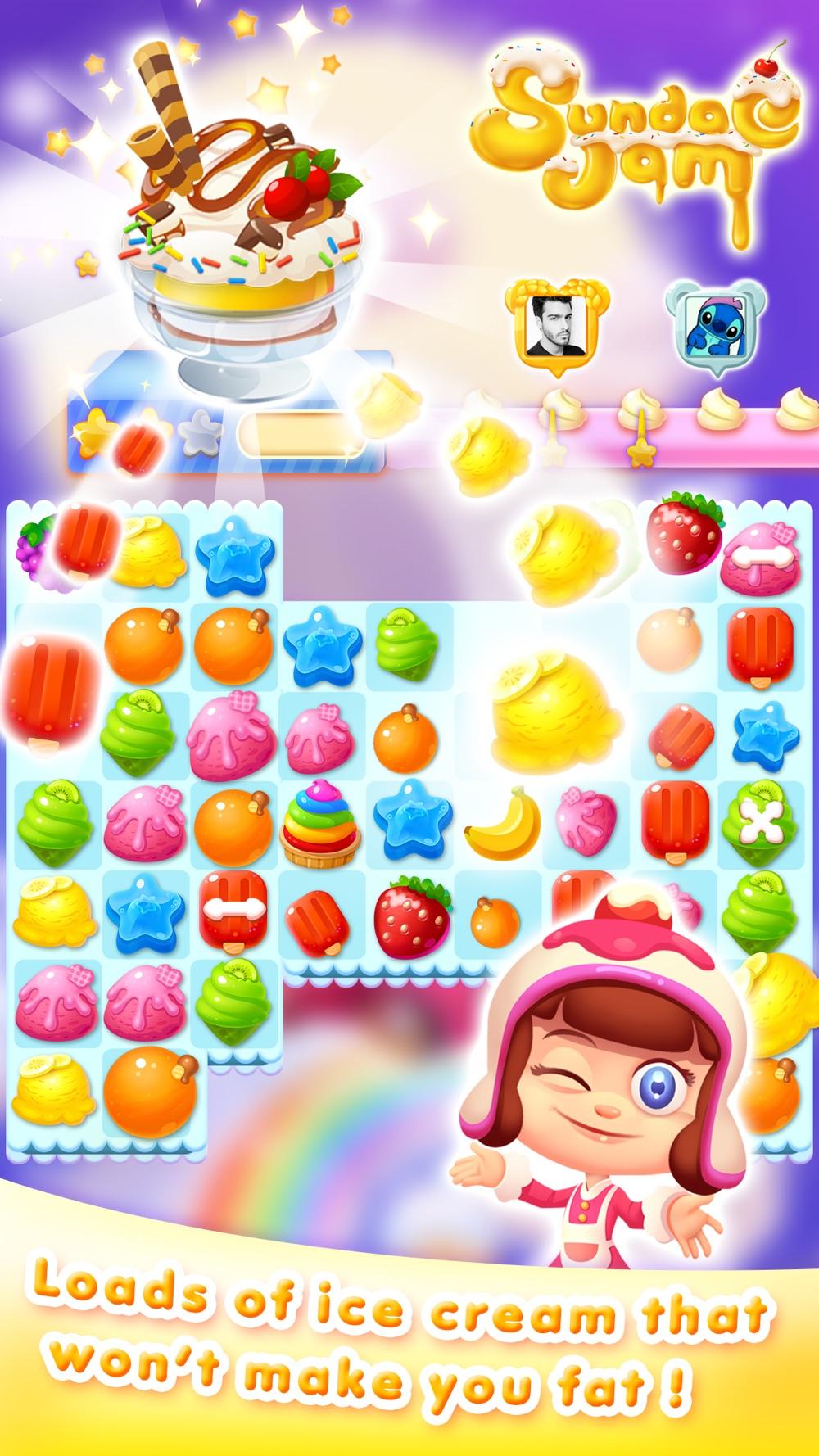 Icecream Sundae Jam - FREE Match 3 Puzzle & Arcade Game hack tool