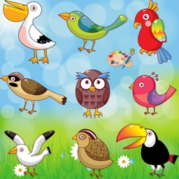 Coloring Book for Toddlers: Birds ! Coloring Pages and Pictures