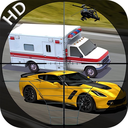 Sniper Highway Traffic Hunter - Shoot the cars with Sniper Gun